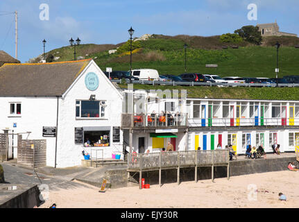 St Ives a charming historic seaside town  in Cornwall England UK Porthgwidden beach cafe - Stock Photo
