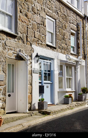 St Ives a charming historic seaside town  in Cornwall England UK St Nicholas Cottage Downalong - Stock Photo