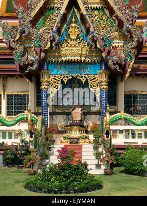 Central facade of one of the Wat Plai Laem Temples on Koh Samui - Stock Photo