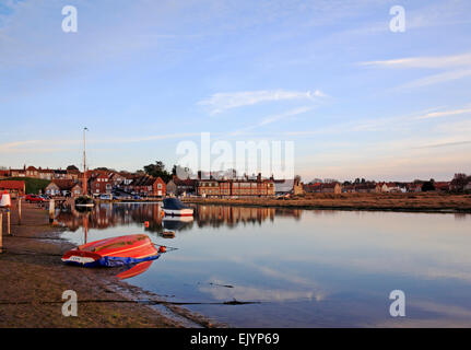 A view of the harbour in evening light at Blakeney, Norfolk, England, United Kingdom. - Stock Photo