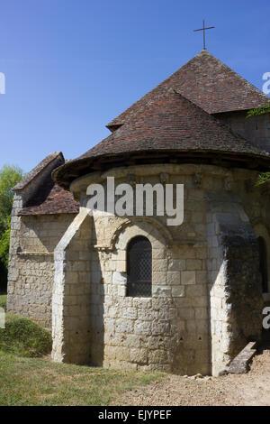 Exterior: Chapel of Saint Gilles, Montoire sur le Loir, France - Stock Photo