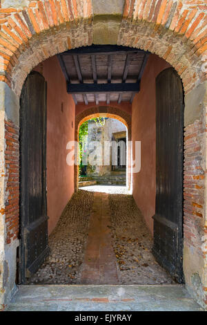 medieval doors - Stock Photo