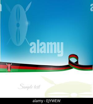 kenya flag background - Stock Photo