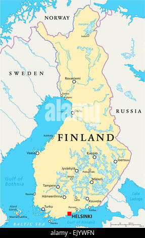 Map Of Sweden With Rivers And Lakes Stock Photo Royalty Free - Sweden map in english