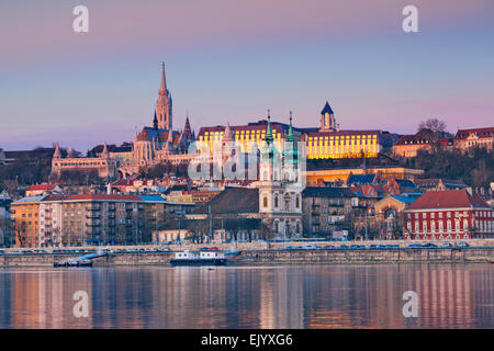 Budapest. Image of Budapest skyline during spring sunrise. - Stock Photo
