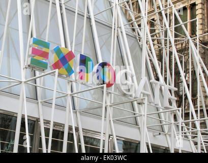 Milan, Italy. 13th Mar, 2015. Expo Gate in Milan, Italy, 13 March 2015. The Expo 2015 world fair runs from 1 May - Stock Photo