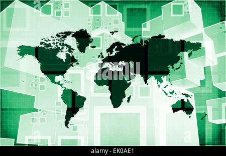 Emerging Market and International Global Businesses Art - Stock Photo