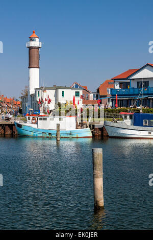 The port of Timmendorf on the island Poel (Germany) - Stock Photo