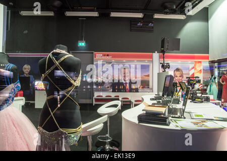 BBC buildings; Media City UK; Salford Quays; Manchester - Stock Photo
