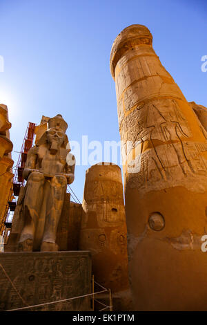 Temple of Luxor, Luxor city, Egypt - Stock Photo