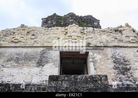 Top of the Temple 2, Tikal, Guatemala - Stock Photo
