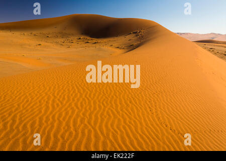 Sand dune in Namib desert near Sossusvlei in Namib-Naukluft National Park, Namibia - Stock Photo