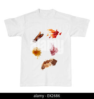 Collection Of Various Coffee Stains Stock Photo Royalty