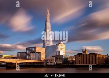 The Shard and London Bridge, London, England - Stock Photo