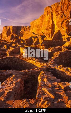 Pueblo Bonito, Anasazi Indian, Chaco Culture National Historic Park, New Mexico - Stock Photo