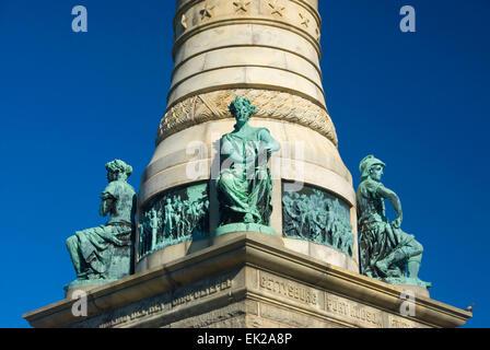 Soldiers & Sailors Monument, East Rock Park, New Haven, Connecticut - Stock Photo