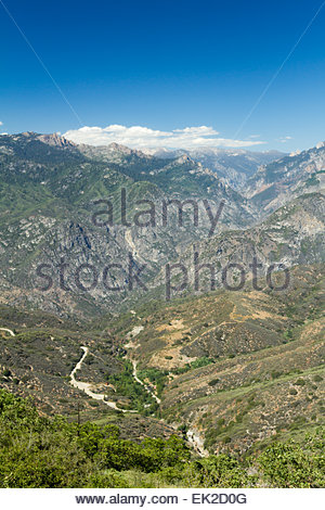 USA, California, View of Sequoia and Kings Canyon National Parks - Stock Photo