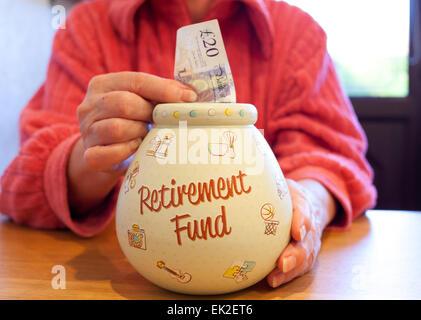 Retirement pension fund savings. - Stock Photo