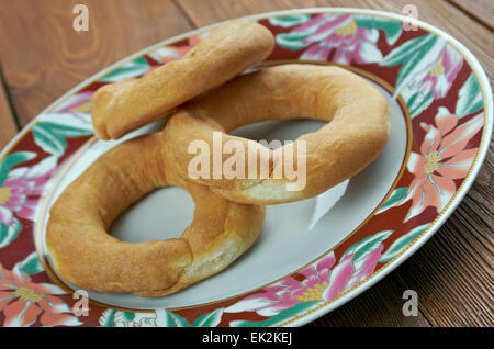 Kalach- northern Russian off traditional cake.traditional East Slavic bread - Stock Photo