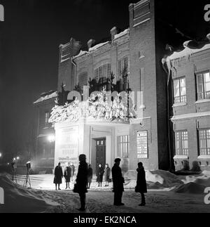 Kursk. Building of Kursk Drama Theatre named after Alexander Pushkin. - Stock Photo