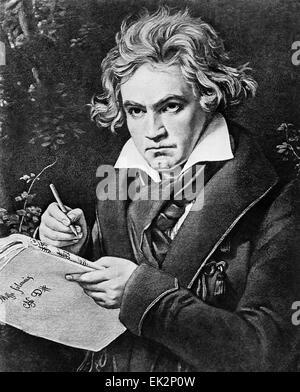 German composer Ludwig van Beethoven - Stock Photo