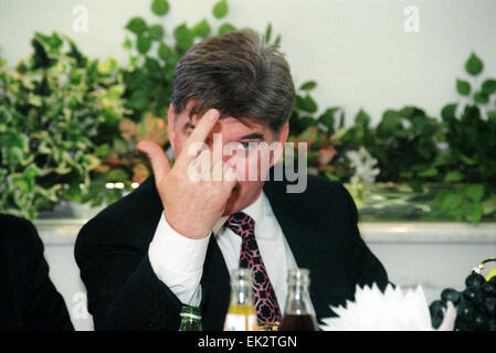 Moscow. Presidential candidate of the Russian Federation Vladimir Bryntsalov is pictured. - Stock Photo