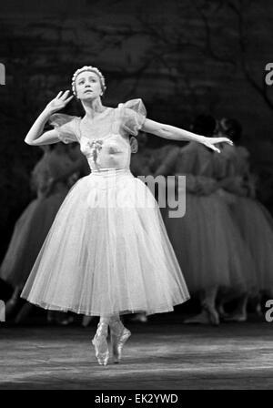 Moscow. USSR. Ballet dancer Galina Ulanova. - Stock Photo