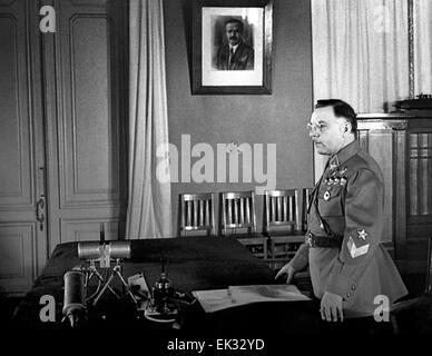 Moscow. USSR. Kliment Voroshilov, People's Commissar of Defense of the USSR and Marshal of the USSR. - Stock Photo