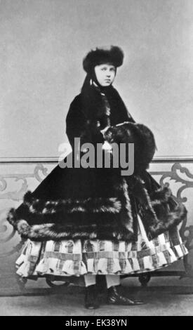 ST PETERSBURG, RUSSIAN EMPIRE. Grand Duchess Maria Alexandrovna of Russia, later Duchess of Edinburgh and Duchess - Stock Photo