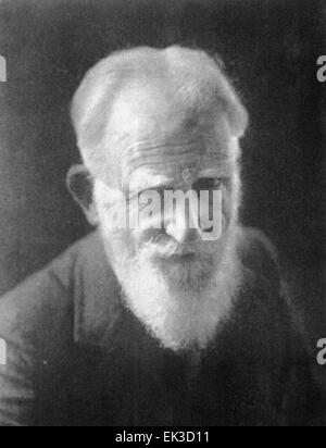 Pictured in this reproduced file image is Irish playwright, George Bernard Shaw. - Stock Photo