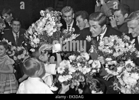 Moscow. USSR. FC Torpedo Moscow is a winner of the 1960 USSR football championship. - Stock Photo