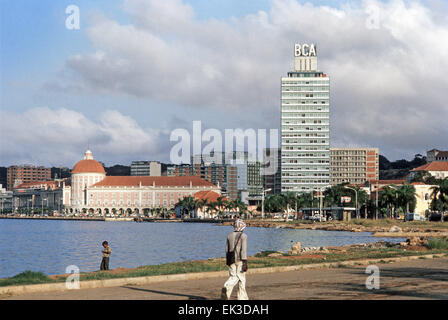 Angola. Building of the National Bank of Angola BNA in Luanda. - Stock Photo
