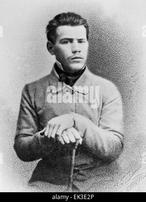 Russian writer Leo Tolstoy 1828-1910. Reproduction. - Stock Photo