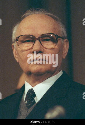 MOSCOW. Pictured here is former KGB chairman Vladimir Alexandrovich Kryuchkov in office 1988 - 1991. - Stock Photo