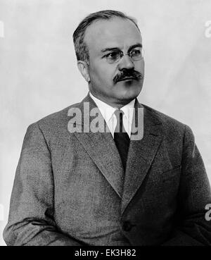 Reproduced photo of Soviet politician and diplomat Vyacheslav Mikhailovich Molotov, 1988. - Stock Photo