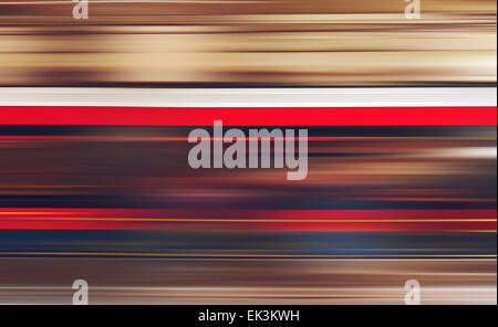 Blurred defocused subway train in motion as abstract urban background, speed and living fast in modern urban cities - Stock Photo