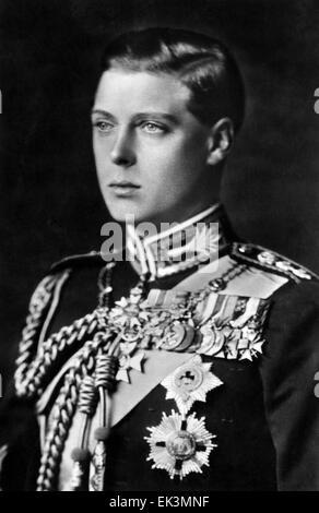 King Edward VIII, as Prince of Wales, Portrait, circa 1920's - Stock Photo