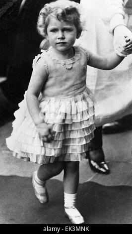 Queen Elizabeth II, of United Kingdom, as a child, circa 1929 - Stock Photo