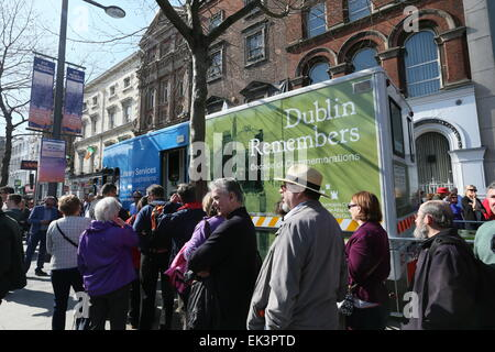 Dublin, Ireland. 06th Apr, 2015. Image from the recreation of Easter 1915 in Dublin city centre as part of the 1916 - Stock Photo