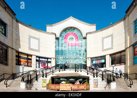 Queens Arcade, Cardiff, Wales, UK. - Stock Photo