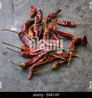 In the picture a set of chillies Italian, Turri Sardinia. - Stock Photo