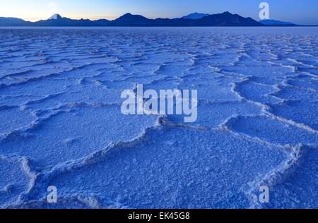 Bonneville Salt Flats At Dusk - Wendover - Utah - Stock Photo