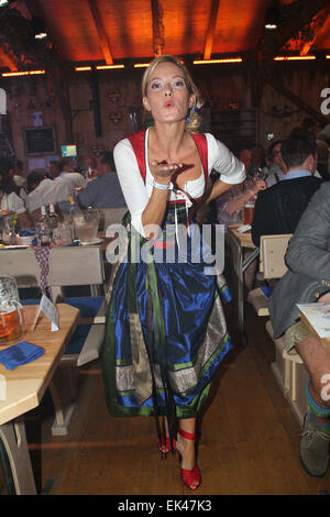 celebrities at the 2014 oktoberfest wiesn at fisch baeda festzelt stock photo 80613764 alamy. Black Bedroom Furniture Sets. Home Design Ideas