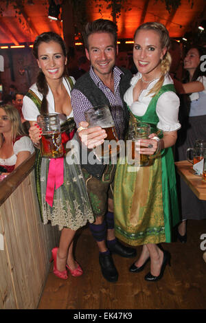 celebrities at the 2014 oktoberfest wiesn at fisch baeda festzelt stock photo 80613781 alamy. Black Bedroom Furniture Sets. Home Design Ideas