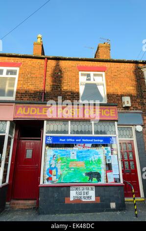 Small village post office; royal mail; English village shop; village shop in England; Britain; traditional British; - Stock Photo