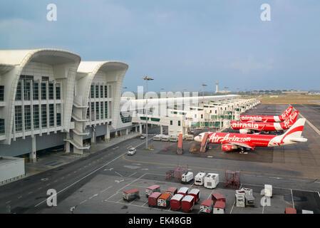The low cost carrier terminal (KLIA 2) at Kuala Lumpur International Airport (KLIA), Malaysia. Airport terminal. - Stock Photo