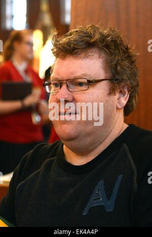 New Zealand actor Stephen Hunter, who plays Bombur in Peter Jackson's three-part adaptation of J.R.R. Tolkien's - Stock Photo