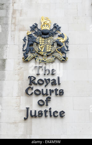 The Royal Courts of Justice, London, UK - Stock Photo