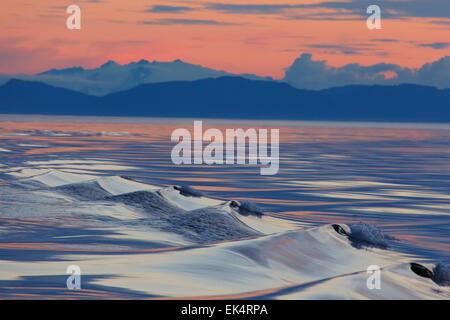 Sunset, Cape Fanshaw, Tongass National Forest, Alaska. - Stock Photo
