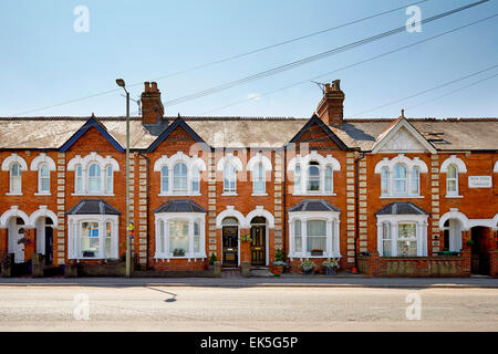 Victorian terraced houses - Stock Photo